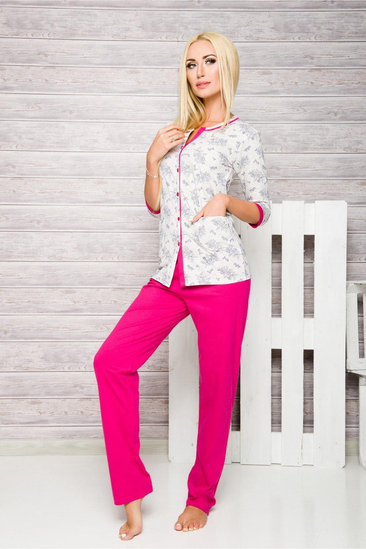 Pijama de damă 2126 Fabia fuchsia